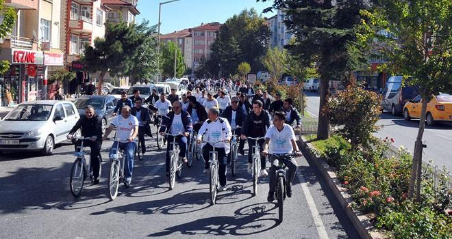 Akşehir'de 'Sağlık İçin Pedalla' etkinliği