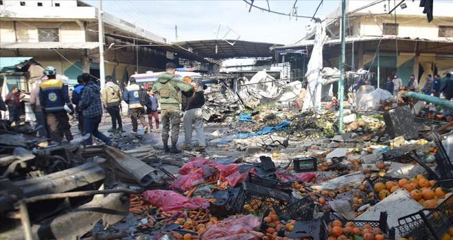 Bab'da hayvan pazarına terör saldırısı