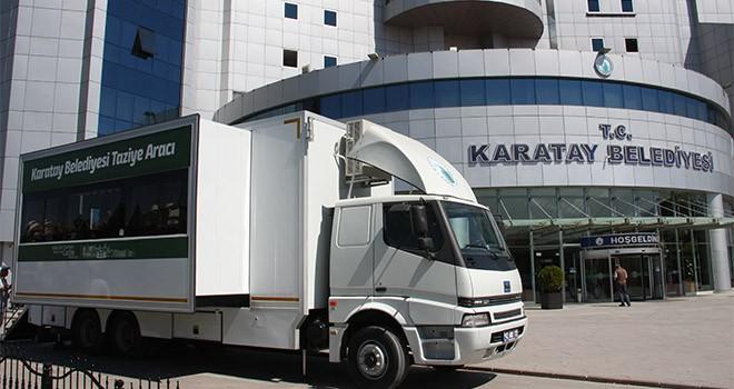 Karatay'a mobil  taziye aracı