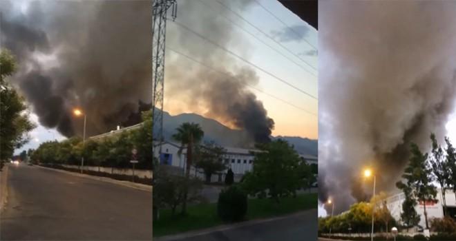 Antalya OSB'de yangın
