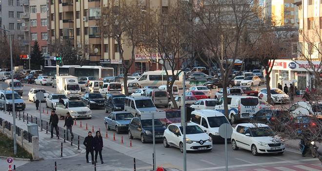 Konya trafiğinde taşıt sayısı arttı