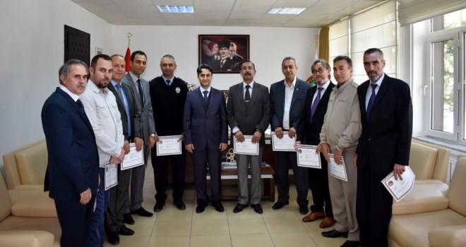 Seydişehir'de başarılı polisler ödüllendirildi
