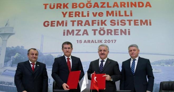 Türk boğazlarında yerli ve milli gemi trafik sisteminde imzalar atıldı
