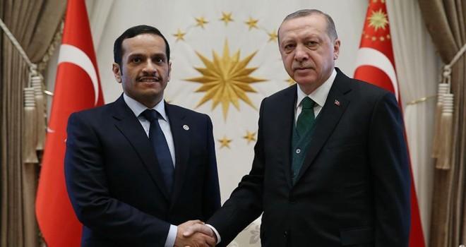 Erdoğan, Katar Dışişleri Bakanı Sani'yi kabul etti