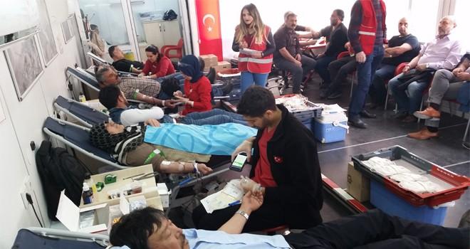 Kulu'da kan bağışına yoğun ilgi