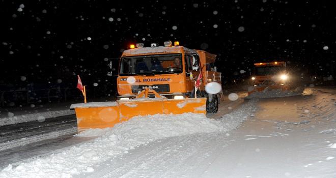 Büyükşehir'den  kar seferberliği