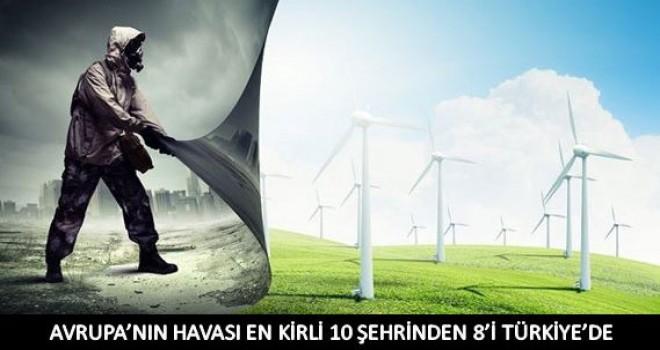 Havası en kirli 10şehrinden 8'i Türkiye'de