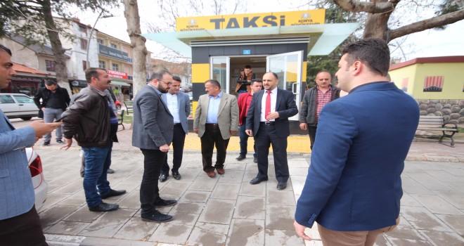 Başkan Özaltun,  taksicilerle buluştu