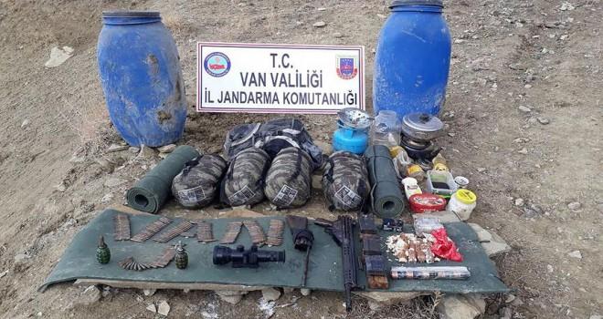 Van'da terör örgütü PKK/KCK'ya ait mühimmat ele geçirildi