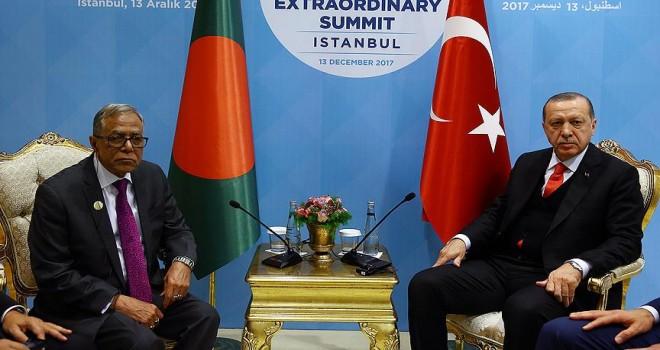 Bangladeş Cumhurbaşkanı Hamid ile görüştü