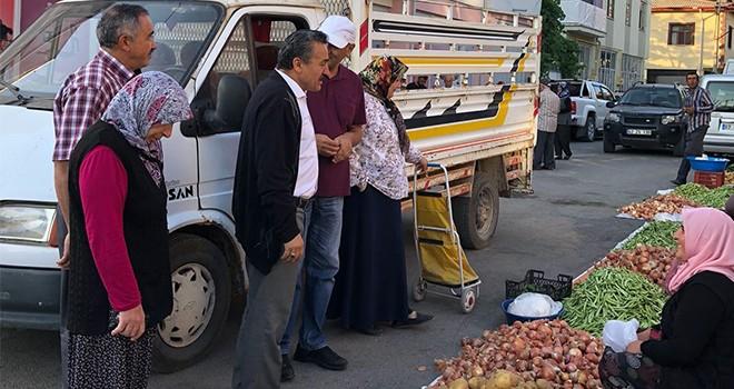 Başkan Tutal'dan  Pazarcı Esnafına Ziyaret
