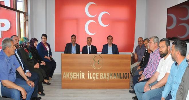 Akkaya ve AK Parti'den MHP'ye teşekkür ziyareti