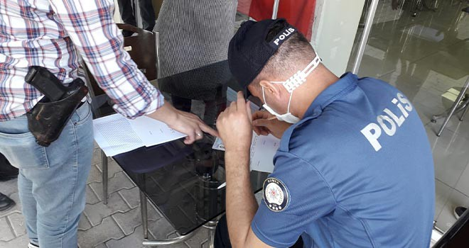 Maskesiz alışverişe çıkan 19 kişiye 17 bin 100 lira ceza