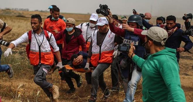 30'dan fazla Filistinli sporcu yaralandı