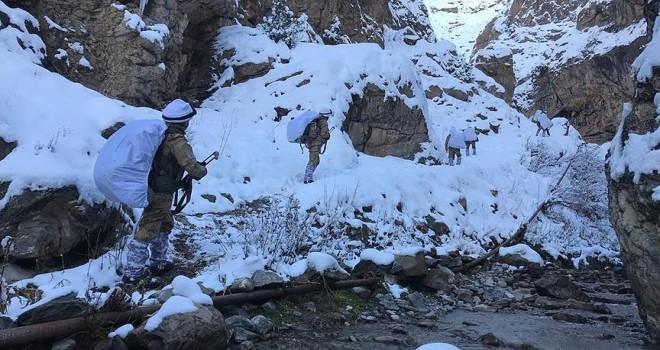 Terör örgütü PKK/KCK'nın kış üslenmesine operasyon