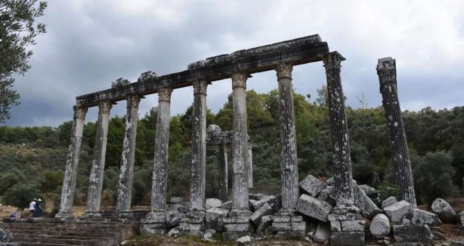 Euromos'ta Roma ve Helenistik döneme ait mezarlar bulundu