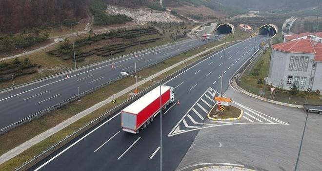 Bolu Dağı Tüneli'nden 7 milyondan fazla araç geçti