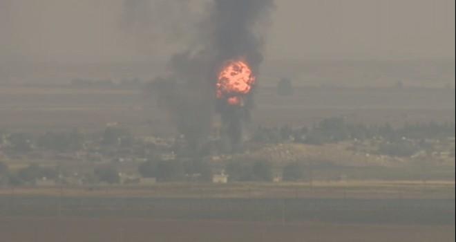 Resülayn'da şiddetli patlama kamerada