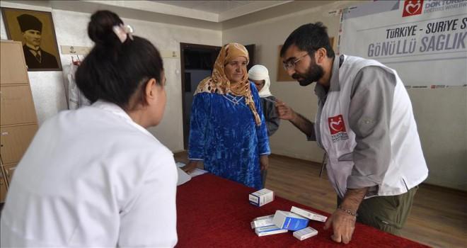 'Yeryüzü Doktorları' Suriye'de sağlık taraması yapıyor