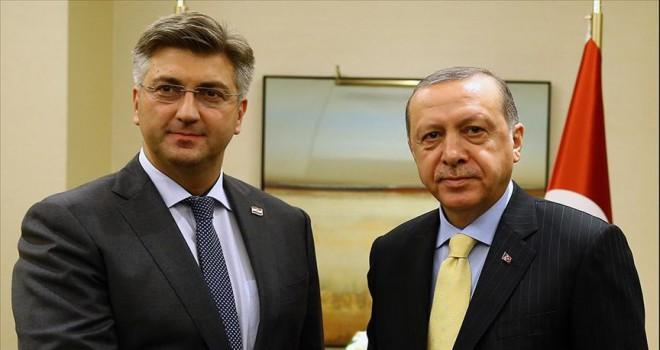Erdoğan, Plenkovic ile telefonda görüştü