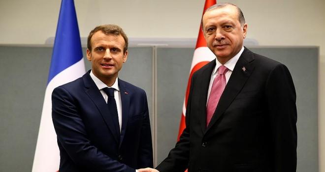 Erdoğan ile Macron Suriye'yi görüştü
