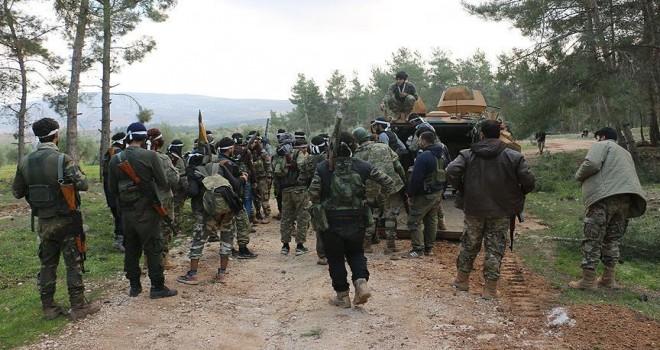 Afrin'de ele geçirilen terör kampındaki çatışma görüntülendi
