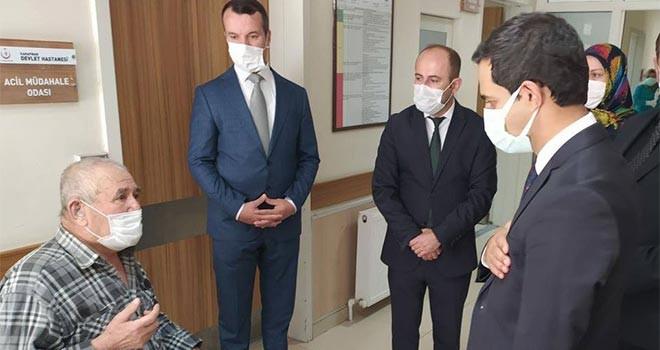 Kaymakam Murat'tanhastane ziyareti
