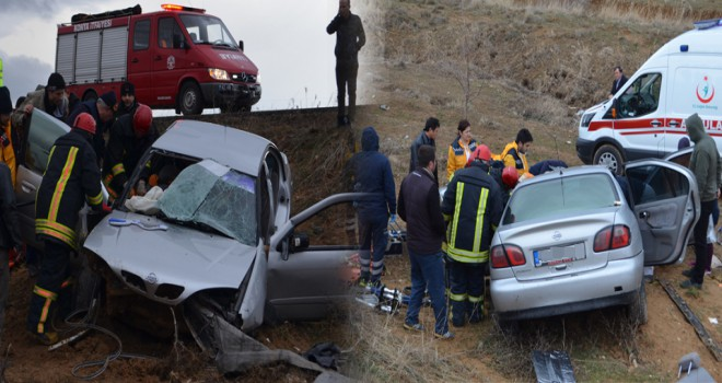 Konya'da otomobil şarampole devrildi: 5 yaralı