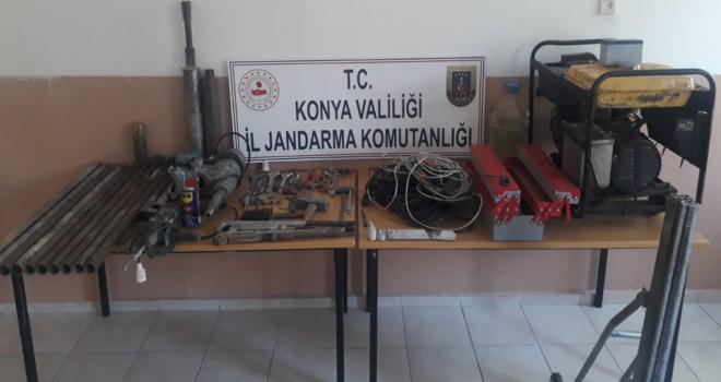 Derbent'te kaçak kazı operasyonu
