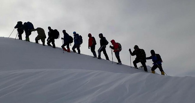 Zeytin Dalı Harekatı'na destek için Yıldız Dağı'na tırmandılar