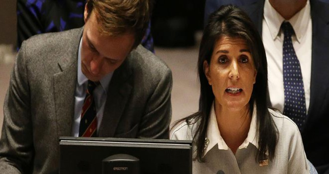 ABD'nin BM Temsilcisi Haley'nin topuklu ayakkabılı 'eşik bekçiliği'