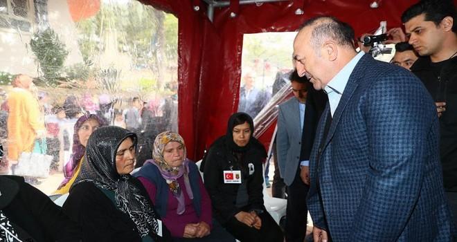 Dışişleri Bakanı Çavuşoğlu'ndan şehit evine taziye ziyareti