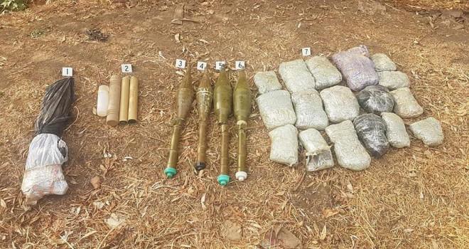 Teröristlere ait silah ve mühimmat bulundu