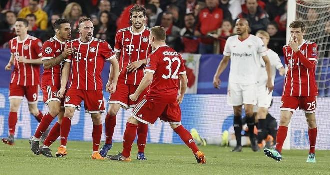 Bayern Münih, deplasmanda Sevilla'yı 2-1 yendi
