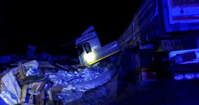Kulu'da tır kazası