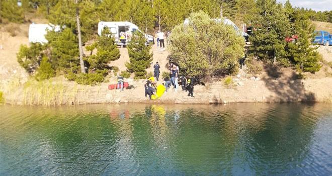 Sulama göletine giren genç boğuldu