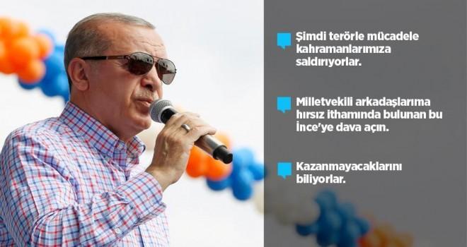 Cumhurbaşkanı Erdoğan: kahramanlarımıza saldırıyorlar