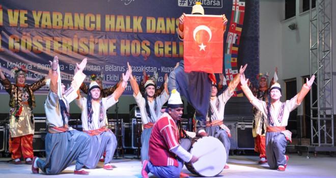 Akşehir'de halkdansları gösterisi