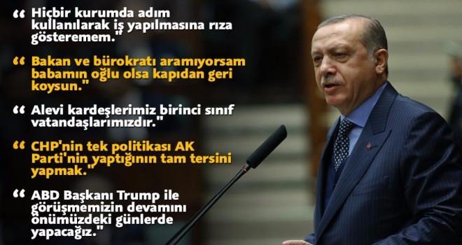Cumhurbaşkanı Erdoğan: Babamın oğlu olsa kapıdan geri koysun