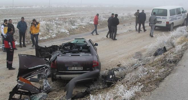 Cihanbeyli'de feci kaza1 ölü, 2 yaralı