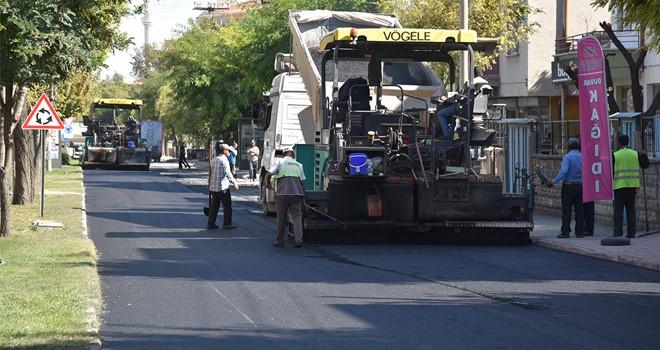 Selçuklu, 100 bin ton asfalt hedefine yaklaştı