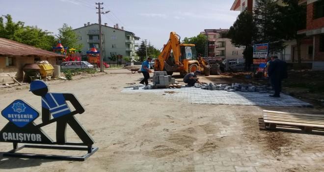 Beyşehir'de bozulan  yollara bakım ve onarım