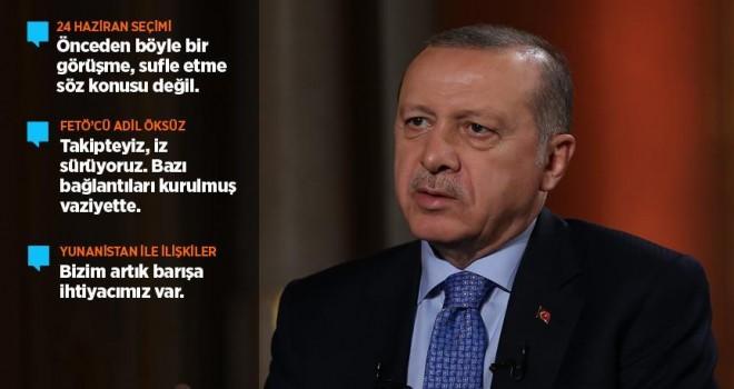 Cumhurbaşkanı Erdoğan: Önceden bir görüşme, sufle etme söz konusu değil