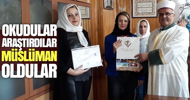 Okudular, araştırdılar, Müslüman oldular