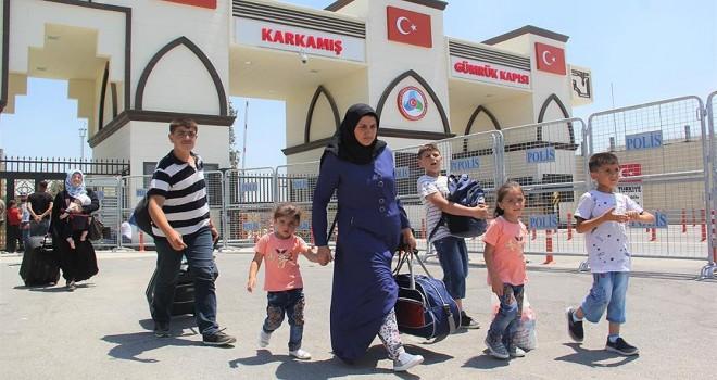 Suriyelilerin dönüşü başladı