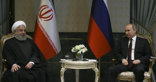 Putin ve Ruhani'den Suriye'de iş birliğine devam vurgusu