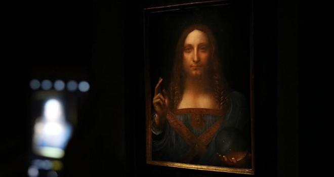 Leonardo da Vinci'nin 'Salvator Mundi' tablosu 450 milyon dolara satıldı