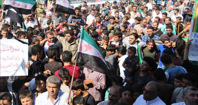 İdlibliler rejimin alıkoyduğu sivillere özgürlük istedi