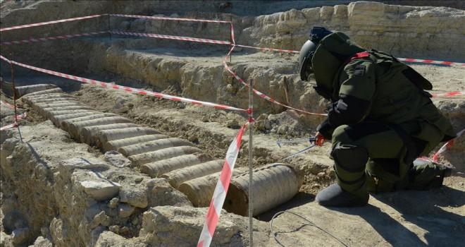 Çanakkale'de patlamamış top mermisi bulundu