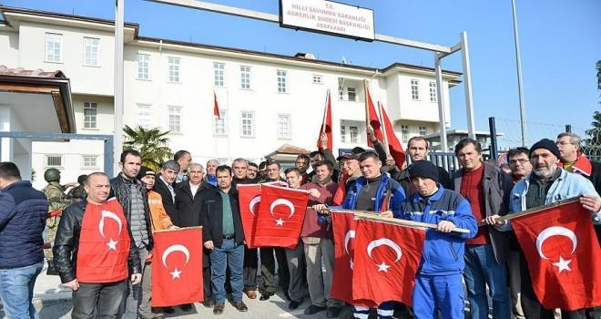 Belediye çalışanları 'Zeytin Dalı' için gönüllü oldu